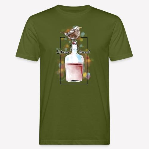 Schnapsdrossel - Männer Bio-T-Shirt