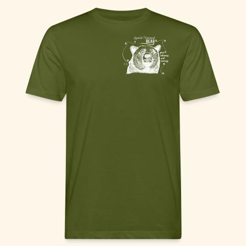 Spirit Animal Bär weiß - Männer Bio-T-Shirt