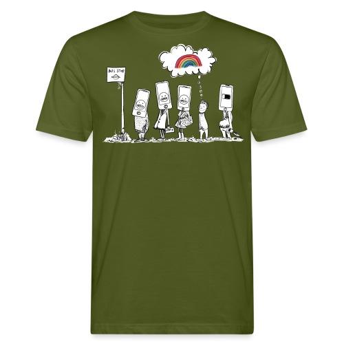 Lavoro pendolari Hate lunedì Meditazione mattutina - T-shirt ecologica da uomo