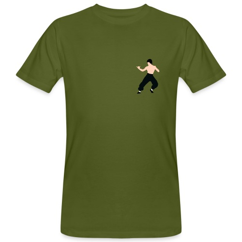 Bruce lee Kampf Pose - Männer Bio-T-Shirt