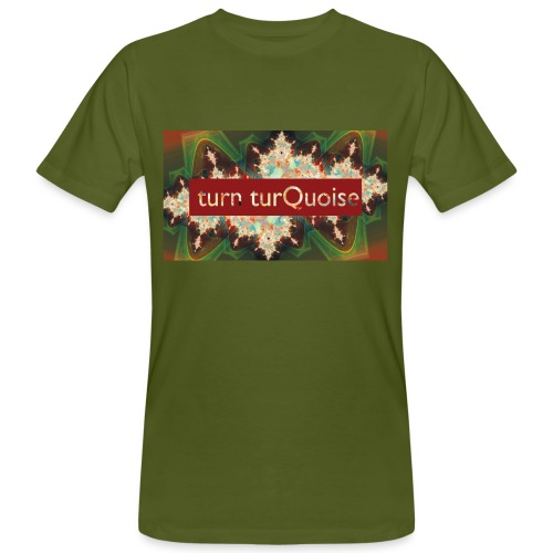 turn turQuoise Logo 2 - Männer Bio-T-Shirt
