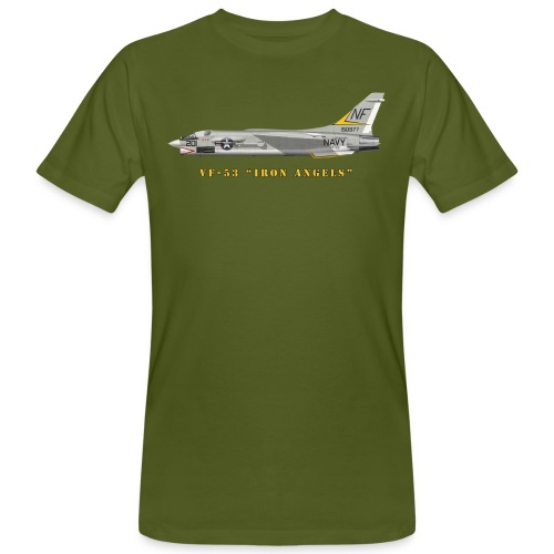 F-8J Crusader VF-53 Iron Angels - Men's Organic T-Shirt