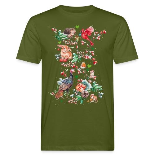 Vrolijke vegan feestdagen! - Mannen Bio-T-shirt
