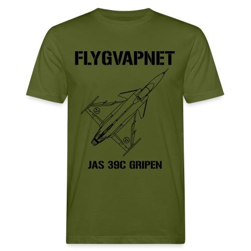 FLYGVAPNET - JAS 39C - Ekologisk T-shirt herr