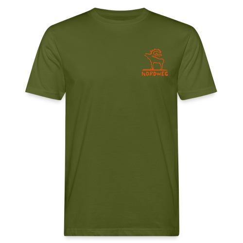 Elch-Nordweg - Männer Bio-T-Shirt