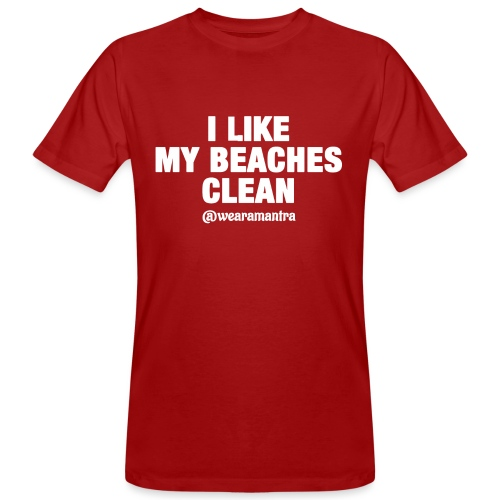 I LIKE MY BEACHES CLEAN - T-shirt ecologica da uomo