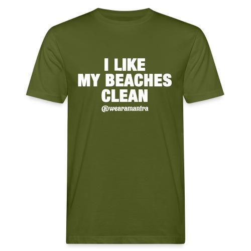 I LIKE MY BEACHES CLEAN - T-shirt ecologica da uomo