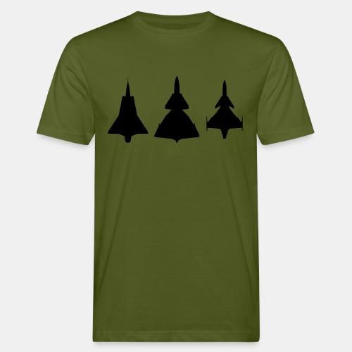 Draken / Viggen / Gripen / jet fighter - Men's Organic T-Shirt