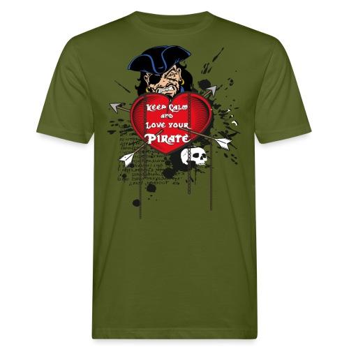 love your pirate - T-shirt ecologica da uomo