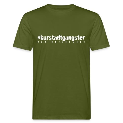 Kurstadtgangster- mit ganz viel Gelassenheit. - Männer Bio-T-Shirt