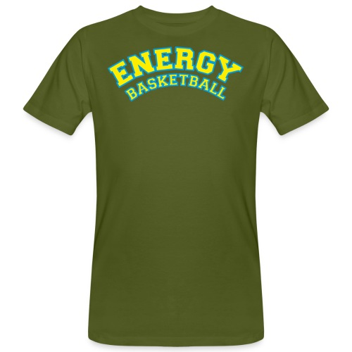 eco logo energy basketball giallo - T-shirt ecologica da uomo