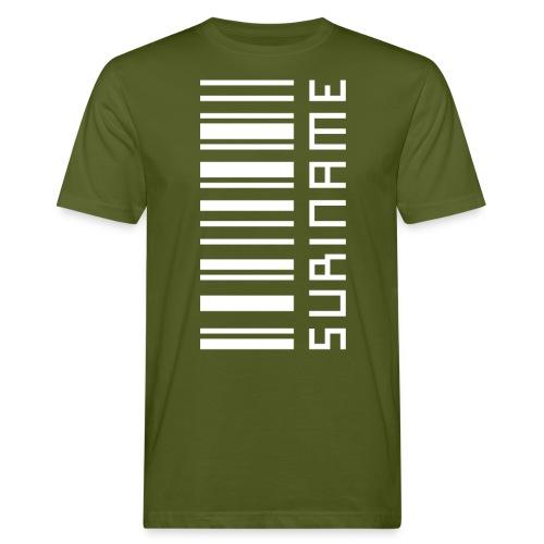 Suriname in streepjescode - Men's Organic T-Shirt