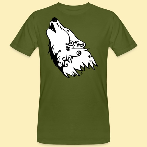Le Loup de Neved (version blanche) - T-shirt bio Homme