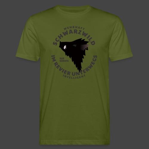 Schwarzwild im Revier-Shirt für Sauenjäger - Männer Bio-T-Shirt