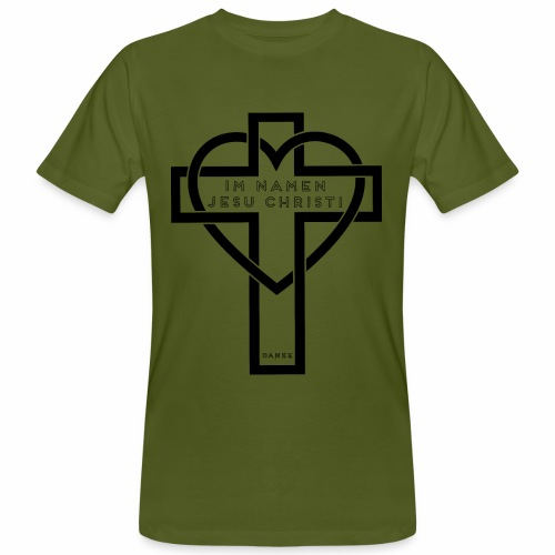 Im Namen JESU CHRISTI - schwarz - Männer Bio-T-Shirt