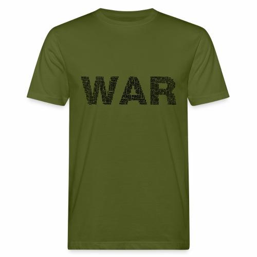 Napis stylizowany War and Peace - Ekologiczna koszulka męska