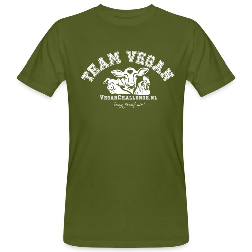 TEAM VEGAN 1 kleur - Mannen Bio-T-shirt