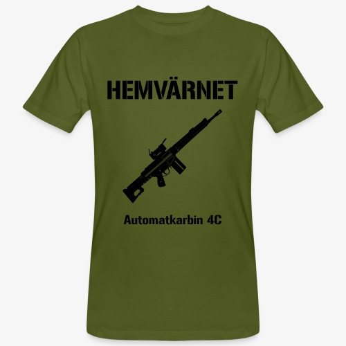 Hemvärnet - Automatkarbin 4C + SWE Flagga - Ekologisk T-shirt herr