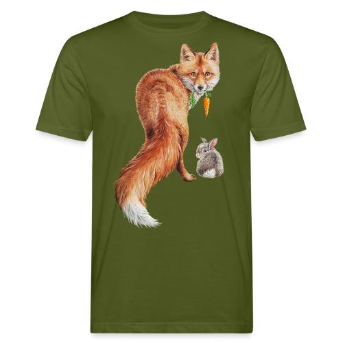 vegan fox with bunny - Men's Organic T-Shirt