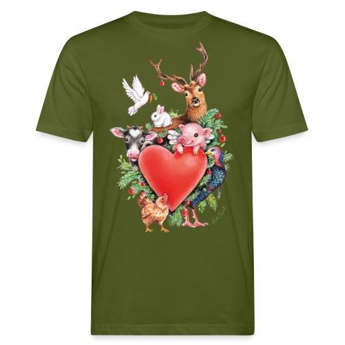 Christmas heart by Maria Tiqwah - Men's Organic T-Shirt