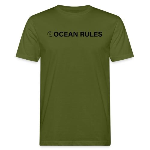 oceanrules black - Männer Bio-T-Shirt