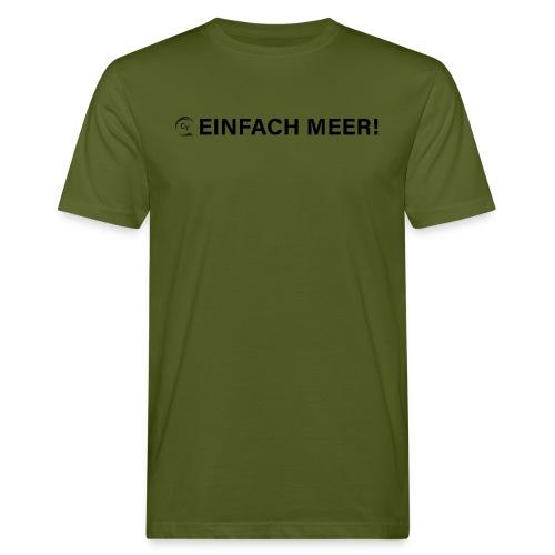 einfach Meer black - Männer Bio-T-Shirt