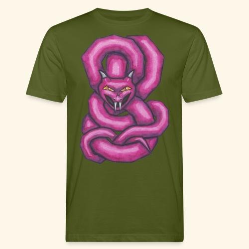 Kantig orm - Ekologisk T-shirt herr