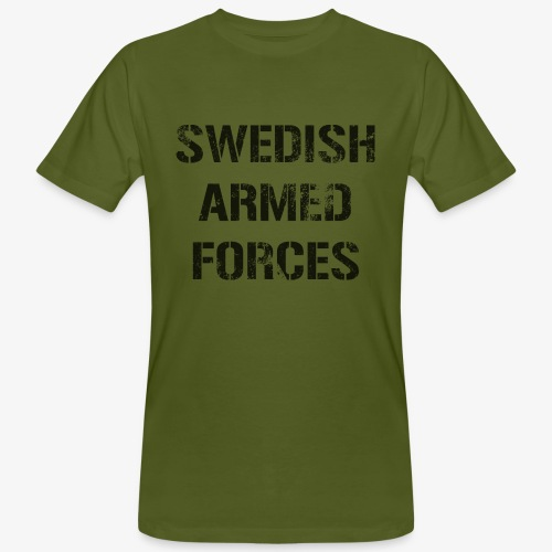 SWEDISH ARMED FORCES Rugged + SWE Flag - Ekologisk T-shirt herr