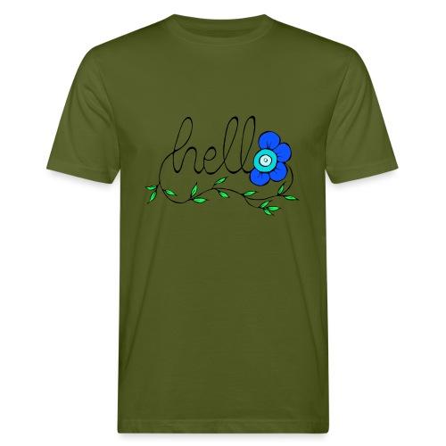Hello Blume. - Männer Bio-T-Shirt