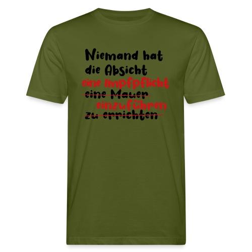 Gute Absichten - Impfpflicht - Männer Bio-T-Shirt
