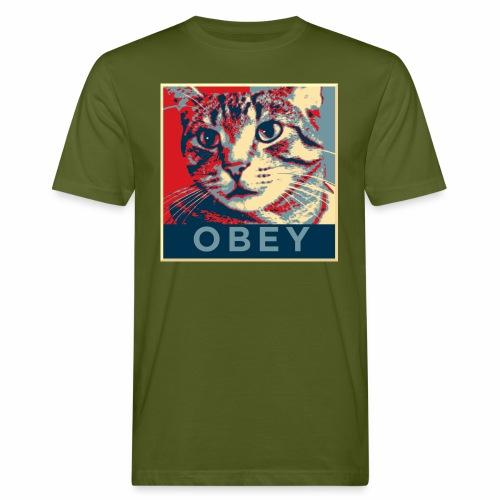 Obey the Cat! - Männer Bio-T-Shirt