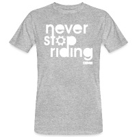 Never Stop Riding - Men's Organic T-Shirt - heather grey