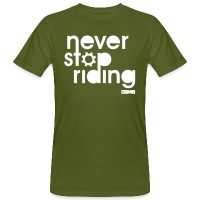 Never Stop Riding - Men's Organic T-Shirt - moss green