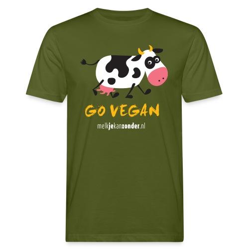 cartoon koe voor gekleurd - Mannen Bio-T-shirt