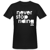 Never Stop Riding - Men's Organic T-Shirt - black