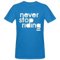 Never Stop Riding - Men's Organic T-Shirt - peacock-blue