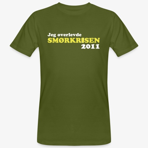 Smørkrise 2011 - Norsk - Økologisk T-skjorte for menn