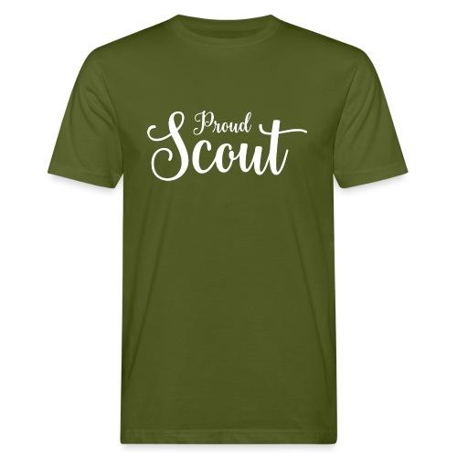 Proud Scout Lettering White - Männer Bio-T-Shirt