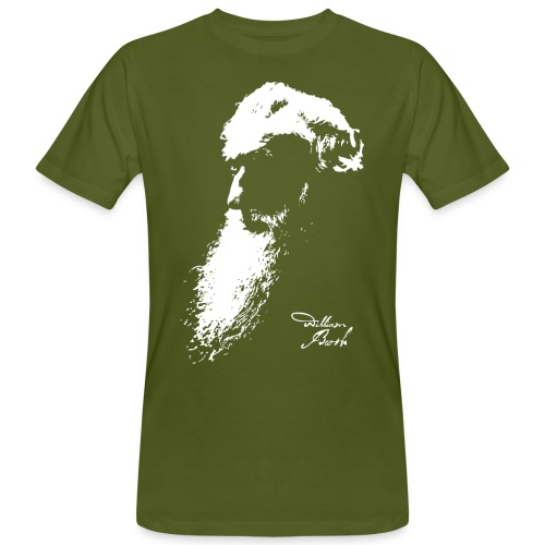 Motiv William Booth Head with Signature - Männer Bio-T-Shirt
