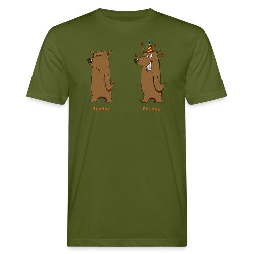 Odio il lunedì Love Friday Lavora per sopportare la settimana - T-shirt ecologica da uomo