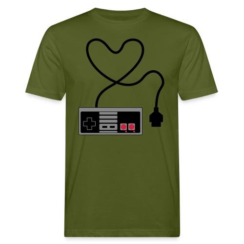 NES Controller Heart - Men's Organic T-Shirt