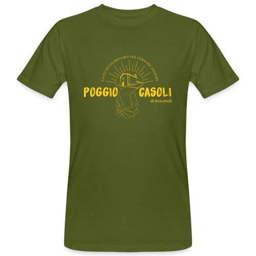 Poggio Casoli_Istituzionale_Giallo - T-shirt ecologica da uomo
