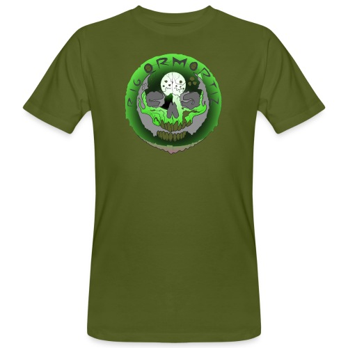 Rigormortiz Metallic Green Design - Men's Organic T-Shirt
