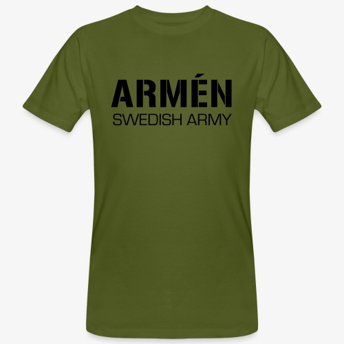 ARMÉN -Swedish Army - Ekologisk T-shirt herr