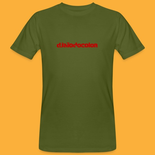 DJATODOCOLOR LOGO ROJO - Camiseta ecológica hombre