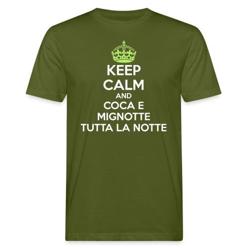 Coca e Mignotte Keep Calm - T-shirt ecologica da uomo