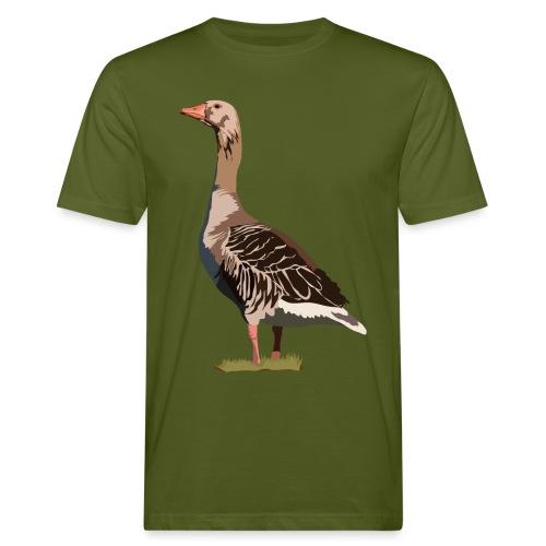 Graugans - Männer Bio-T-Shirt