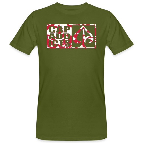 Camo Capaddicts Logo - Männer Bio-T-Shirt