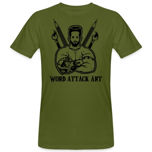 Word Attack Art - Männer Bio-T-Shirt