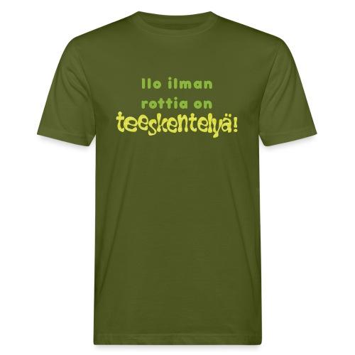 Ilo ilman rottia - vihreä - Miesten luonnonmukainen t-paita